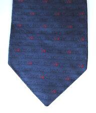 KHS Corbata Seda corporativa de llenado y embalaje Edición Limitada Azul Marino Logo Rojo Xl