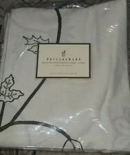 NEW Pottery Barn Samantha Embroidered Floral Shower Curtain 100% Cotton