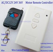 Motor Remote Control AC/DC 12V 24V 36V Up Down Stop Manual Limited Switch Cycle