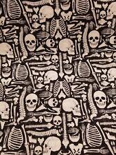 Elegantly Frightful Skulls Bones 100% Cotton Quilting Sewing Fabric
