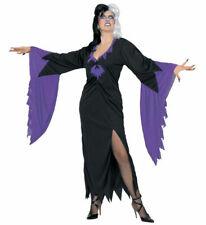 Mortisia Gown Goth M Witch Morticia Adams Family Hail Satan UK 12 Long Dress Bat