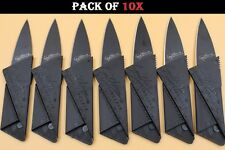 10x Credit Card Folding Utility Knife, Camping Outdoor Pock wallet thin Sharp