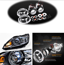 3'' Bi Xenon HID Projector Lens+H4 H7 Adapter w/Silver Shrouds For Car Headlight