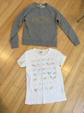 Designer JCREW Womens Zebra Print Tee & Sweatshirt Lot Mod Size XS 0