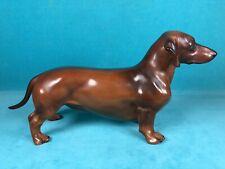 EDWARD MARSHALL BOEHM RED DACHSHUND DOG FIGURINE,  ONLY 150 MADE, RETIRED 1961