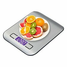 5kg Silver Digital LCD Electronic Kitchen Cooking Food Weighing Scales US