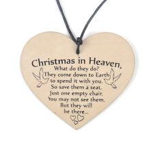 Christmas In Memorial Xmas Tree Decoration Quote Heaven Heart Plaque Love Poem