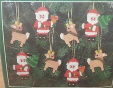 Bucilla Ornaments Needlepoint Kit 8pc. Santa & Reindeer Holiday Christmas Tree