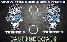 North Carolina Tarheels Ram UNC Cornhole Decal 6 pc Set Football basketball