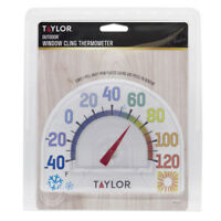 "New! #5323 TAYLOR Seasons *Window Cling* 7"" Outdoor Thermometer No Tool Needed!"