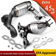 Front & Rear Exhaust Catalytic Converter Manifold For 01-06 Ford Escape 3.0L V6