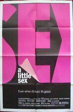A Little Sex una Hoja Póster Película 27x41 1982 Comedia Gran Diseño