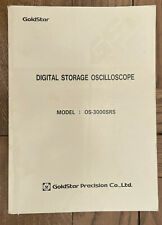 Goldstar Os 3000srs Digital Storage Oscilloscope Manual