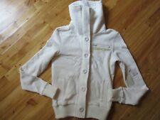Fox Girls Jr. XS Cream Zip Button up Sweat Shirt Faux Sherling NWT Very Nice!
