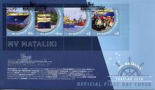 Tokelau 2016 FDC MV Mataliki 4v M/S Cover Boats Cargo Passenger Ships Stamps