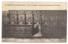 st-geoire-en-valdaine  stalles de l'église ,monument historique du XVe siècle