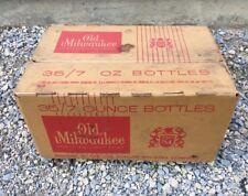 Vintage Cardboard Beer Case EMPTY Old Milwaukee 35/7 Ounce NO BOTTLES 1962