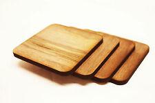 Walnut Laser Cut Wooden Coasters Modern Cool Scandinavian 4 Pack