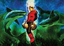 More details for captain scarlet collectable print handpainted limited edition #5 of 50 canvas