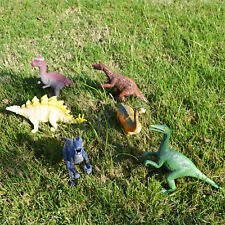 6 pcs Large Assorted Dinosaurs Toy Action Figures Model Stegosaurus Sinraptor