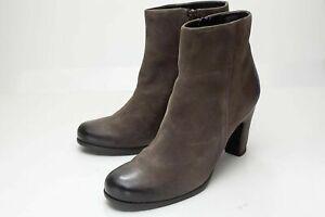 Ecco 8 8.5 Brown Ankle Boots Women's Zip EU 39