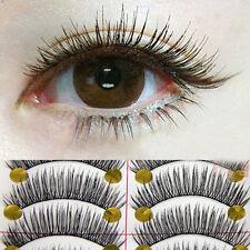10 Pairs Long Cross False Eyelashes Makeup Natural Fake Thick Eye Lashes Z48