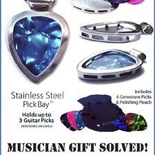 Guitar PICK Holder Pendant Necklace ROCK n ROLL Trendy PICKBAY 1,000 necklaces