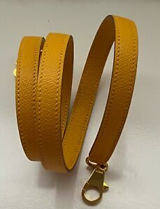 Authentic HERMES Kelly Strap Epsom Courchevel Jaune Yellow Bolide Gold Hardware
