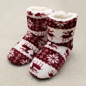 New Room Shoes Woman Home Slippers Girls Christmas Indoor Shoes Warm Floor Socks