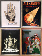 Set of 4 Fortune Telling Themed Fridge Magnets - Oracle Soothsayer Divination