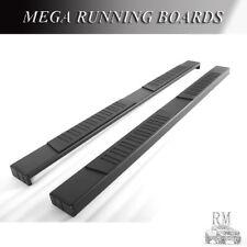 "78"" Black Mega Running Boards Fit 2007-2018 Chevy Silverado 1500 Extended Cab"