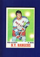 Rod Gilbert HOF 1970-71 O-PEE-CHEE OPC Hockey #63 (VGEX) New York Rangers