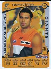 2012 AFL Teamcoach SILVER Card - Setanta O'hAilpin