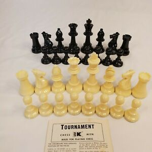 """Vintage S.S. Kresge CHESS PIECES Felted  3.5"""" King With Instructions"""