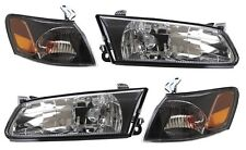 97-99 Toyota Camry BLACK Diamond Headlights + Corners