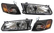 97-99 Toyota Camry BLACK Diamond Headlights + Corners