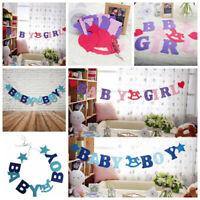 Baby Boy Girl Banner Bunting Garland New Birth Baby Shower Party Hanging HOM