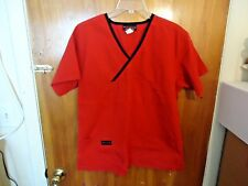 "Melrose Size L Red Scrubs Top "" BEAUTIFUL TOP """