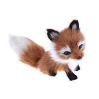 Cute Simulation Fox Plush Toy Imitation Furs Yellow Fox Doll Gift home Decor  ¾!