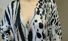 BNWT  s. 4 (14-16) RRP $149 NEW SEVEN SISTERS LONG TOP CARDIGAN black grey white