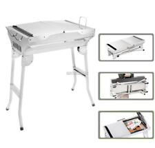 Portable BBQ Grill Charcoal Outdoor Camping Stainless Steel Barbecue Grill US