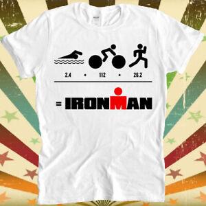 Ironman Triathlon Cycle Run Swim 140.6 70.3 Finisher Retro Unisex T Shirt 578