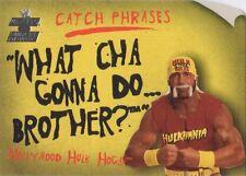 "HULK HOGAN 2002 Fleer WWE CATCH PHRASES Insert Card #12CP ""WHAT CHA GONNA DO?"""