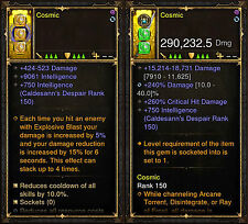 Diablo 3 RoS PS4 [SOFTCORE] Wizard Cosmic Modded Weapon Bundle - Instant Level!