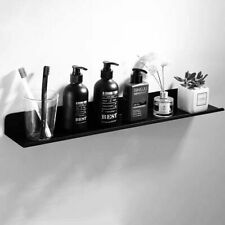New Wall Mounted Bathroom  Black Aluminum Shower Caddy rectangle Storage Shelves