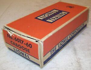 Lionel Postwar 6017-60 USMC Caboose Original #6017-63 2-City BOX ONLY ~ Good