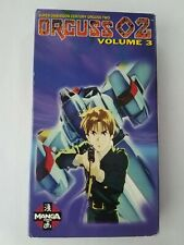 Anime VHS Tape ~ Orguss 02 VOLUME 3 ~ English Dubbed ~ Tested!