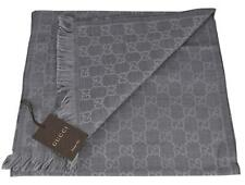 NEW Gucci 544619 Grey Reversible Arlisse GG Guccissima Scarf Muffler