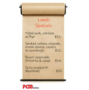 WALL MOUNTED BROWN BUTCHER PAPER HOLDER WITH 1 ROLL PAPER