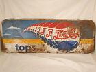 "Vintage (pre-1940s) Pepsi Cola Sign-""tops...""Paint on Metal"